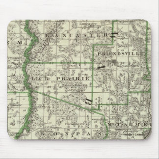 Map of Edwards & Wabash counties and Albion Mouse Pad