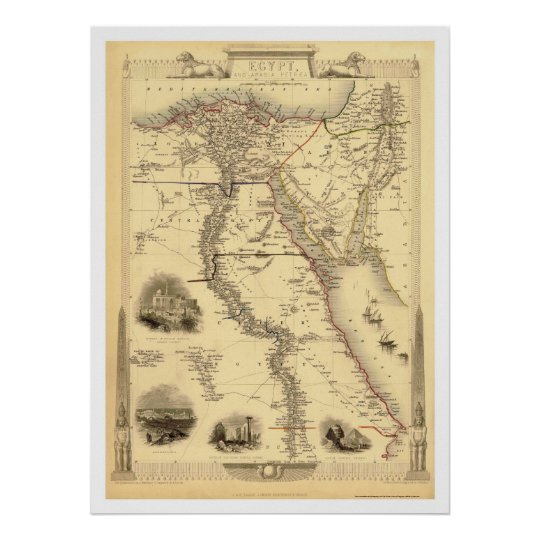 Map of Egypt and Arabia Petrea by Rapkin