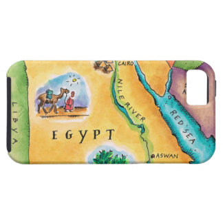 Map of Egypt iPhone 5 Covers