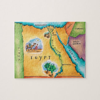 Map of Egypt Jigsaw Puzzle
