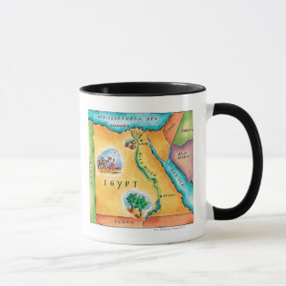 Map of Egypt Mug