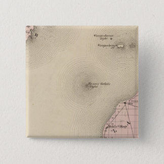 Map of Emmet County, Michigan 15 Cm Square Badge