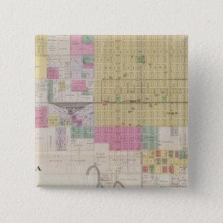 Map of Emporia, Kansas 15 Cm Square Badge