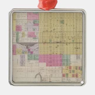 Map of Emporia, Kansas Christmas Ornament
