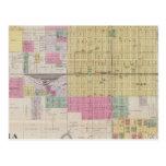 Map of Emporia, Kansas Postcard