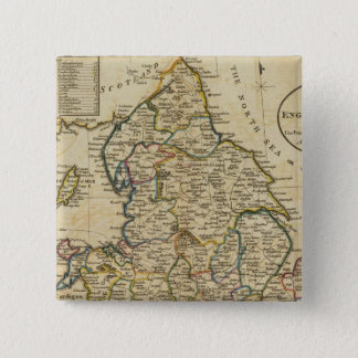 Map of England and Wales 15 Cm Square Badge