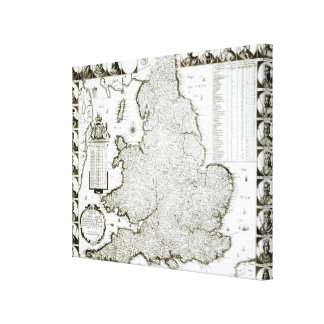 Map of England and Wales, 1644 Canvas Print