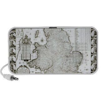Map of England and Wales, 1644 Portable Speakers