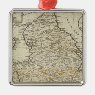 Map of England and Wales Christmas Ornament