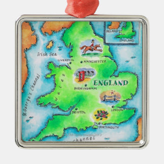 Map of England Christmas Ornament