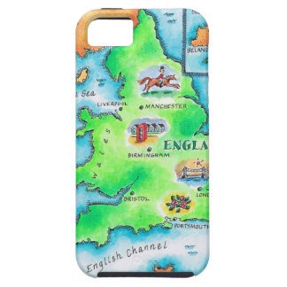 Map of England iPhone 5 Covers