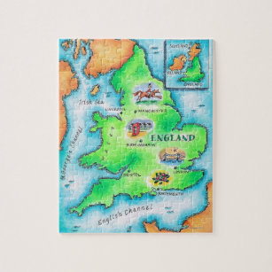 Map of England Jigsaw Puzzle
