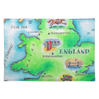 Map of England Placemat