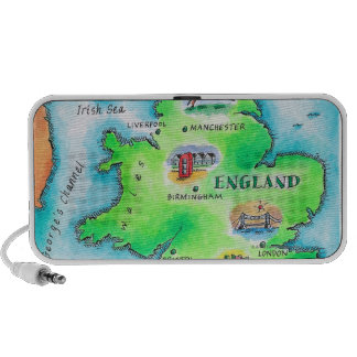 Map of England Mp3 Speakers