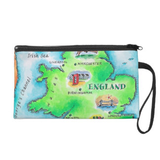 Map of England Wristlet