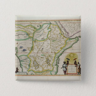Map of Ethiopia showing five African states 15 Cm Square Badge