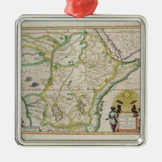 Map of Ethiopia showing five African states Christmas Ornament