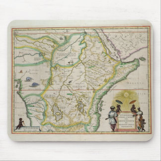 Map of Ethiopia showing five African states Mouse Mat