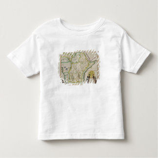 Map of Ethiopia showing five African states Toddler T-Shirt