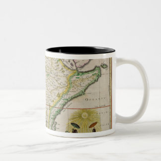 Map of Ethiopia showing five African states Two-Tone Coffee Mug