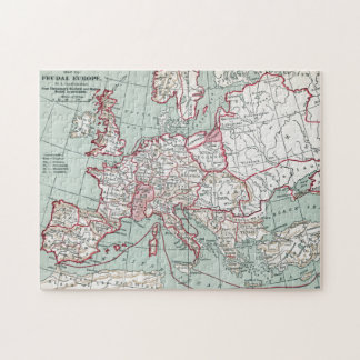 MAP OF EUROPE, 12th CENTURY Jigsaw Puzzle