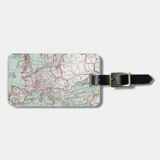 MAP OF EUROPE, 12th CENTURY Luggage Tag