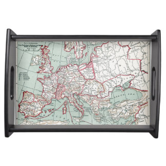 MAP OF EUROPE, 12th CENTURY Serving Tray