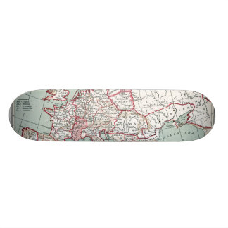 MAP OF EUROPE, 12th CENTURY Skate Board Decks