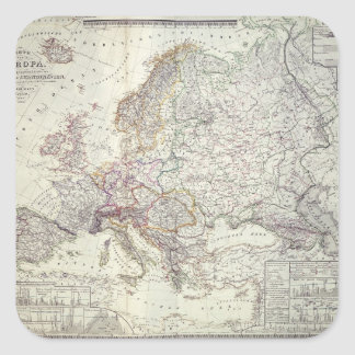 Map of Europe, 1841 Square Sticker