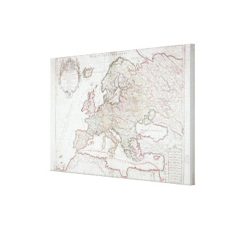 Map of Europe 2 Canvas Print