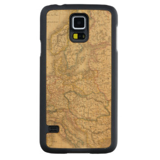 Map of Europe 2 Carved Maple Galaxy S5 Case