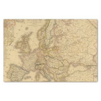 Map of Europe 2 Tissue Paper