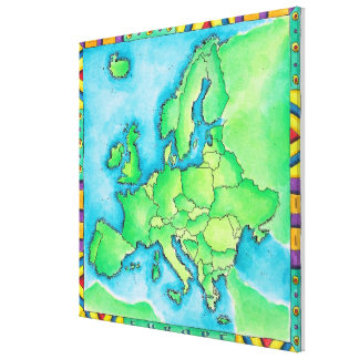Map of Europe 3 Canvas Print