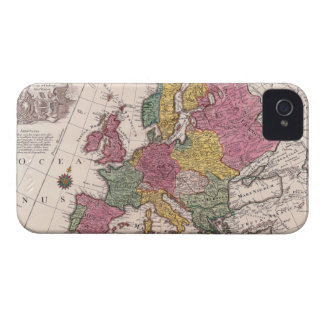Map of Europe 3 iPhone 4 Case-Mate Cases