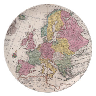 Map of Europe 3 Party Plate