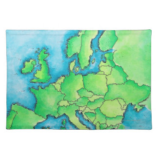 Map of Europe 3 Placemat