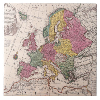 Map of Europe 3 Tile