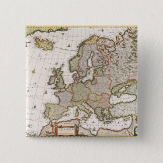 Map of Europe 4 15 Cm Square Badge