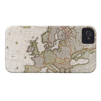 Map of Europe 4 iPhone 4 Case-Mate Case