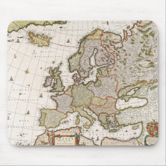 Map of Europe 4 Mouse Pad