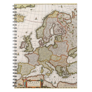 Map of Europe 4 Notebook