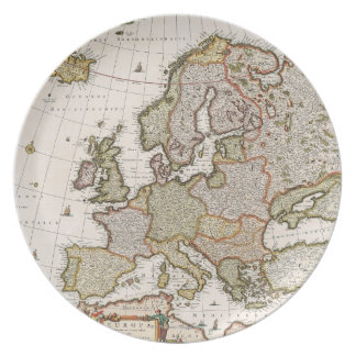 Map of Europe 4 Plate