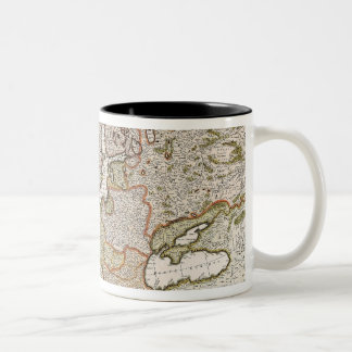 Map of Europe 4 Two-Tone Coffee Mug