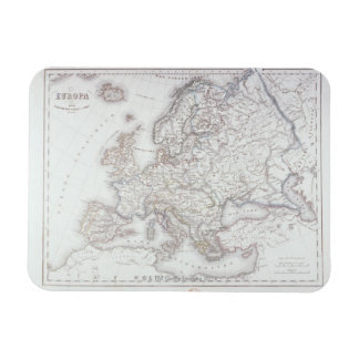 Map of Europe 5 Rectangular Photo Magnet