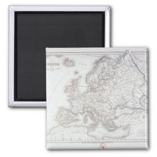 Map of Europe 5 Square Magnet