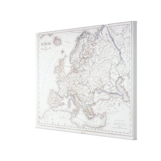 Map of Europe 6 Canvas Print