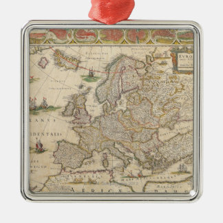 Map of Europe 6 Christmas Ornament