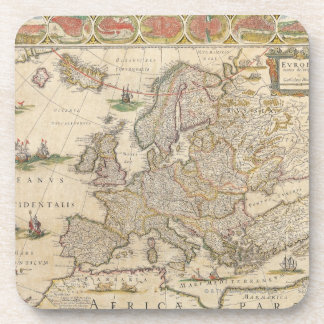 Map of Europe 6 Drink Coaster