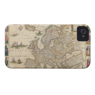 Map of Europe 6 iPhone 4 Case-Mate Cases