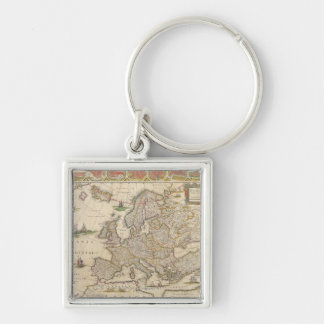 Map of Europe 6 Key Ring